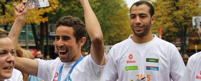 Herri Krosa Bilbao llegada participantes